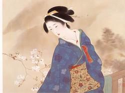鏑木清方の美人画: いづつやの文...
